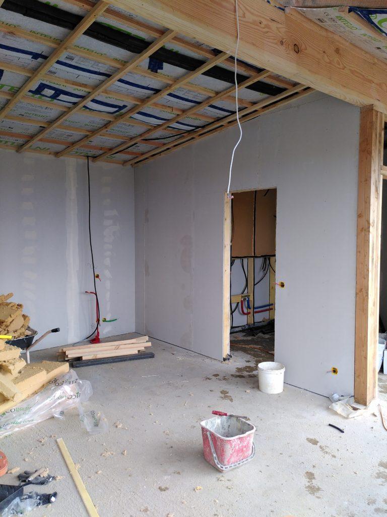 faux plafond Earthship